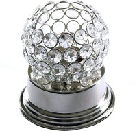 Frestol Steel Tealight Holder (Silver, Pack Of 1)