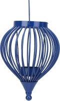 @home Cast Iron 1 - Cup Tealight Holder (Blue, Pack Of 1)