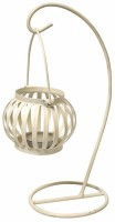Painting Mantra Metal Hanging Treasure Aluminium 1 - Cup Tealight Holder (White, Pack Of 1)