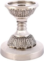 Rajrang Steel 1 - Cup Candle Holder (Clear, Pack Of 1)