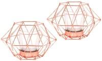 Inspiration World Iron Tealight Holder Set (Copper, Pack Of 2)