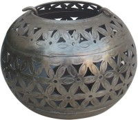 Indune Lifestyle Antique Silver S Iron Tealight Holder (Silver, Pack Of 1)