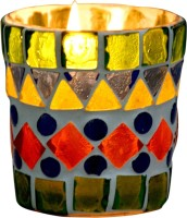 Craft Trade Glass Tealight Holder (Multicolor, Pack Of 1)