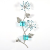 @home Votive Stand 2 Glass Candle Holder (Multicolor, Pack Of 1)