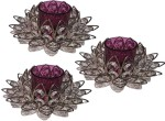 Inspiration World Purple Crystal Lotus 3 pcs