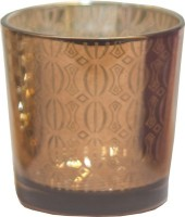 JB Collection Glass 1 - Cup Candle Holder (Multicolor, Pack Of 1)