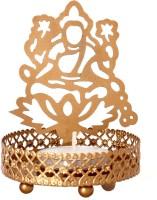 Priyals Laxmi Ji Shadow (Aura) Decorating Diya Brass Tealight Holder Set (Gold, Pack Of 1)