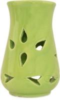 Kriti Creations Aroma Lamp Ceramic 1 - Cup Tealight Holder (Green, Pack Of 1)