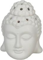 Impressions Ceramic Tealight Holder Set (White, Pack Of 1)