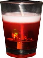 SAF Designer Glass 1 - Cup Candle Holder (Multicolor, Pack Of 1)