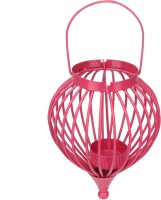 At Home Cast Iron 1 - Cup Tealight Holder (Pink, Pack Of 1)