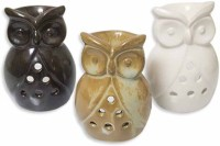 Painting Mantra Cute Owl Combo Pack Ceramic 3 - Cup Tealight Holder (Multicolor, Pack Of 3)
