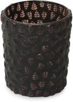 Color Palatte Glass 1 - Cup Tealight Holder (Black, Pack Of 1)