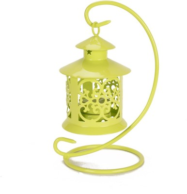 Scrafts Metal Hanging - Flourescent Aluminium 1 - Cup Candle Holder (Green, Pack Of 1)