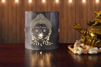 Height Of Designs Budha Candle Votive Iron 1 - Cup Tealight Holder Set (White, Pack Of 2)