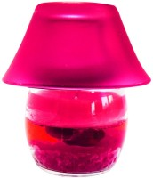 DIZIONARIO Kettle Lamp 4 Pink Color Glass 1 - Cup Candle Holder (Pink, Pack Of 1)