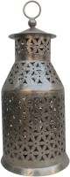 Indune Lifestyle Tower Antique Silver Iron Tealight Holder (Silver, Pack Of 1)