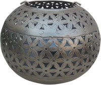 Indune Lifestyle Antique Silver M Iron Tealight Holder (Silver, Pack Of 1)