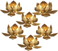 Inspiration World Lotus Set / 6 Gold Plated 6 - Cup Tealight Holder Set (Gold, Pack Of 6)
