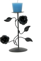 Aesthetic Decors Iron 1 - Cup Candle Holder (Black, Pack Of 1)
