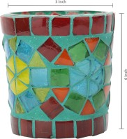 Indigenous Glass 1 - Cup Candle Holder (Multicolor, Pack Of 1) - CTHEGFGYAG2TSZ8G