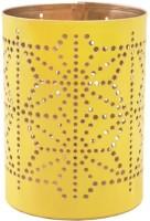 Chumbak Pretty Lights Votive - Yellow Iron Tealight Holder (Yellow, Pack Of 1)