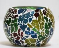SR Crafts Glass Tealight Holder (Multicolor, Pack Of 1)