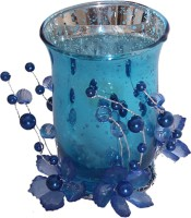 Devinez Glass 1 - Cup Candle Holder Set (Blue, Pack Of 1)