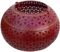 Indune Lifestyle Handi Votive Large Iron Tealight Holder (Red, Pack Of 1)
