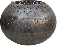 Indune Lifestyle Antique Silver Large Iron Tealight Holder (Silver, Pack Of 1)