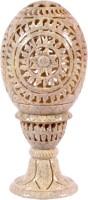 Avinash Handicrafts Soap Stone Carved Candle Lamp Egg Shape 5