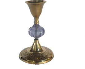 Sheela's Arts & Crafts Brass 1 - Cup Candle Holder