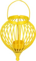 At Home Cast Iron 1 - Cup Tealight Holder (Yellow, Pack Of 1)