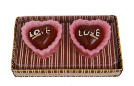 DCH Heart Shaped Chocolate Scented Candle