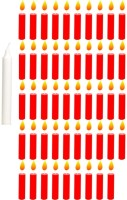 Besure Birthday Candle (White, Red, Pack Of 50)