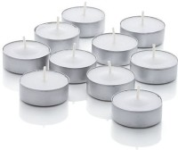 Zelos Tealights Candle (White, Pack Of 10)