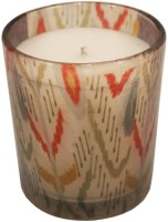 GolMaalShop Printed Glass Wax Votive Candle (Gold, Pack Of 3)