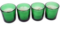 Silverlight Green Glass Votive Candle (Green, Pack Of 4)