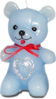 Pride & Joy Arts Teddy Bear Candle (Blue, Pack Of 1)