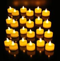 Toygully Led Tea Light Yellow Candle (Yellow, Pack Of 24)