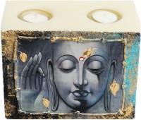 Artistique Budha Block 2 Tea Lights Candle (Multicolor, Pack Of 1)