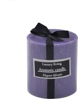 The Yellow Door Lavender Scented -3x3 Candle (Purple, Pack Of 1)