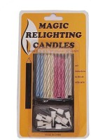 Indigo Creatives Happy Birthday Magic Fun Self Relighting Set Candle (Multicolor, Pack Of 10)