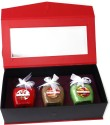 Artesana Jar Candles Candle - Red, Brown, Green, Pack Of 3