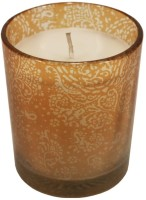 GolMaalShop Round Glass Wax Votive Candle (Gold, Pack Of 3)