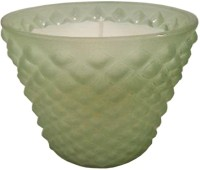 GolMaalShop Classy Green Glass Wax Votive Candle (Green, Pack Of 1)