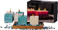 DECO Aro Aromatic Pearl Cube Candle (Blue, White, Pack Of 6)