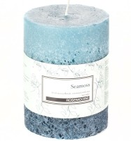 Rosemoore Scented Pillar - Seamoss Candle (Blue, Pack Of 1)