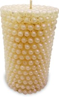 Impressions Pearl Pillar Candle (White, Pack Of 1)