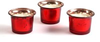 Hosley H14571 Candle (Red, Pack Of 3)